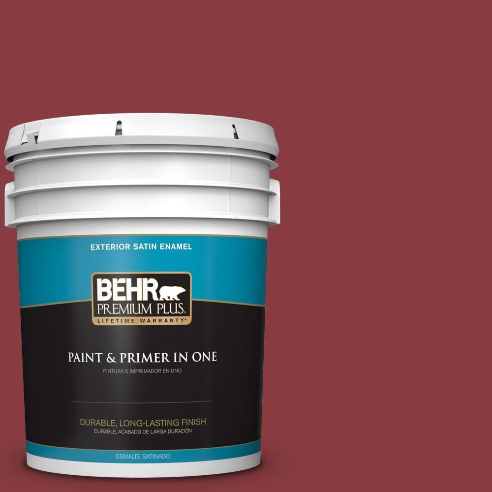 BEHR Premium Plus Home Decorators Collection 5-gal. #hdc-WR14-11 Cranberry Tart Satin Enamel Exterior Paint