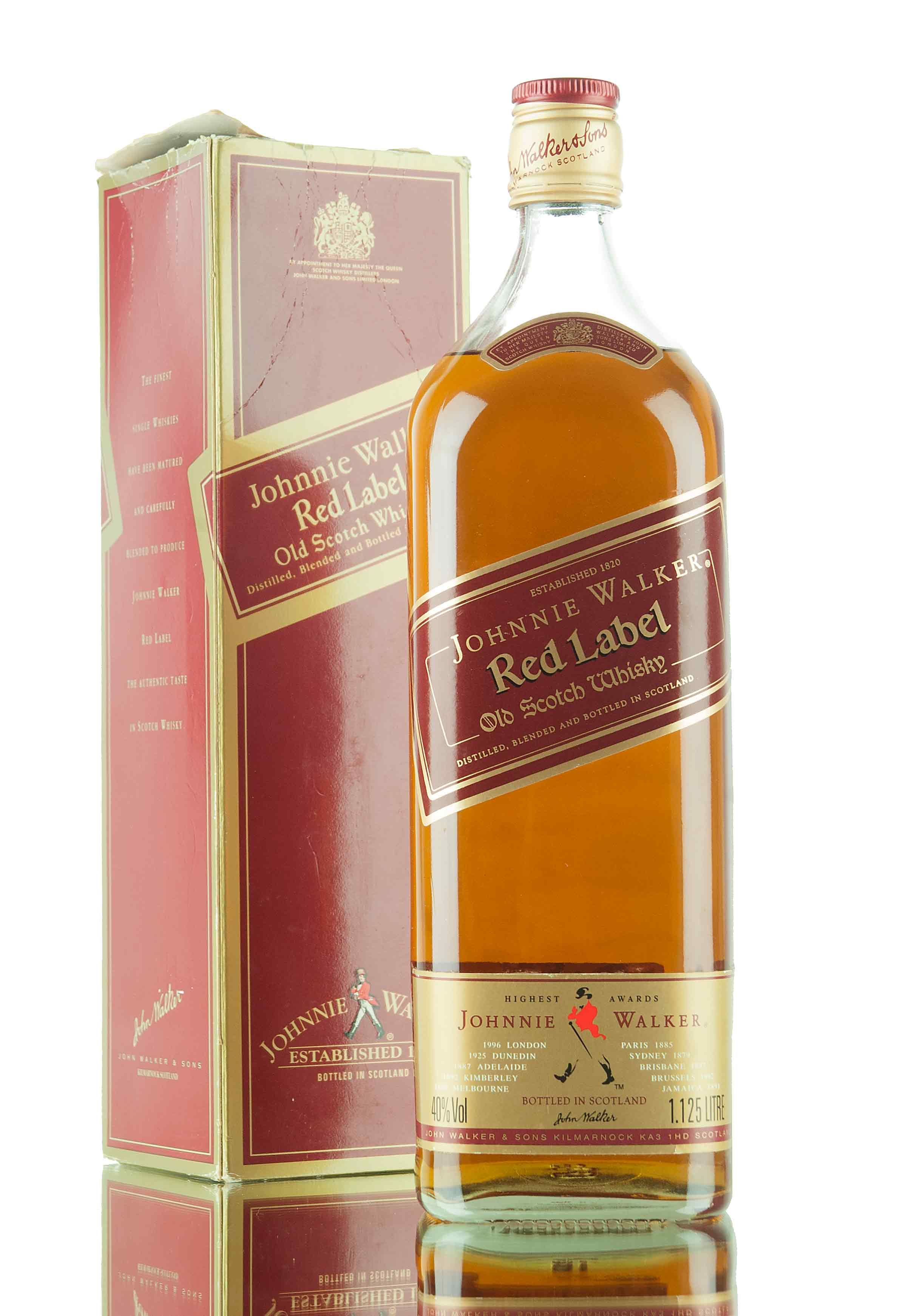 An older style release of Johnnie Walker Red Label, served up in a 1.125 litre size bottle. We believe this to be have bottled sometime in the 1980's, filled at 40%. Please check the condition of this bottling before ordering. If you require further images, please get in touch.
