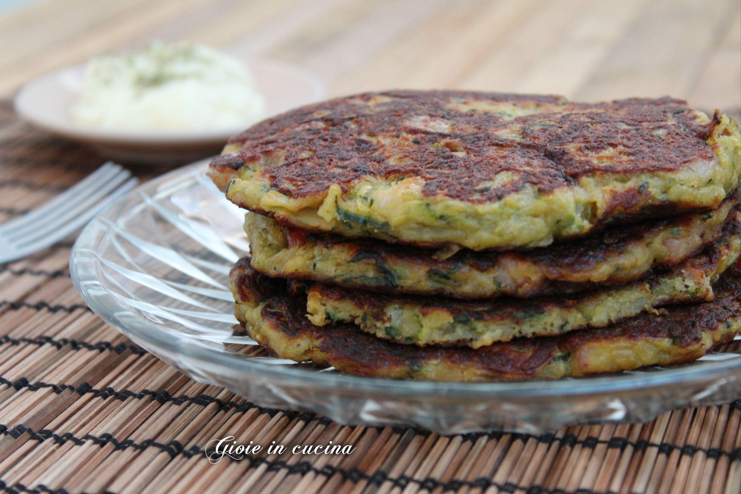 Pancakes salati zucchine patate e speck