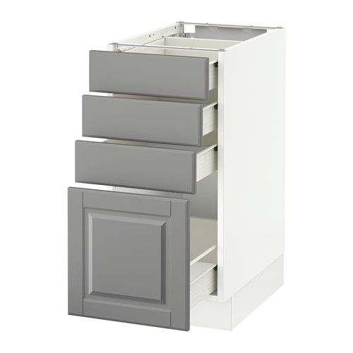 sektion base cabinet with 4 drawers ikea f  rvara drawer can be pulled out to    of sektion base cabinet with 4 drawers white f  rvara bodbyn gray      rh   pinterest com