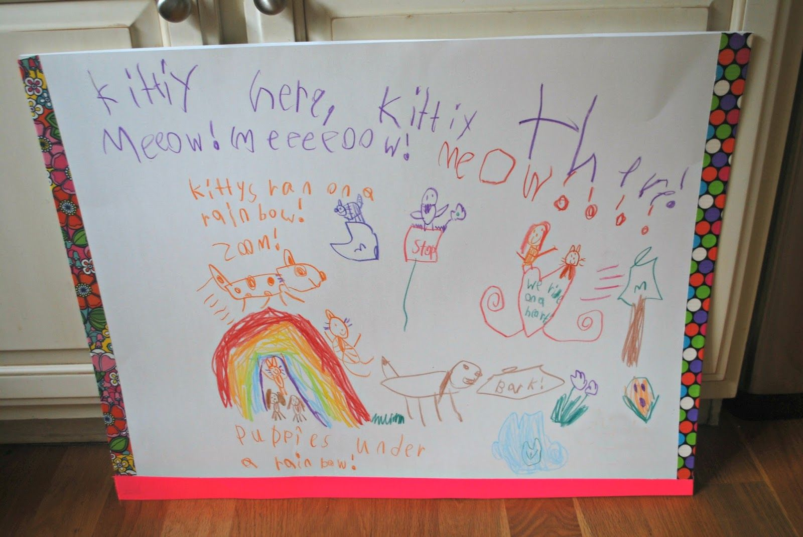 Get Organized With A Diy Kids Artwork Folder Mess For Less