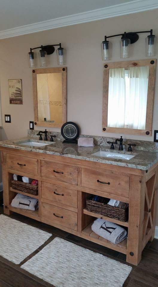 Superb Double X Vanity With Matching Mirrors | Farm House Furniture | Knoxville  Custom Furniture Maker