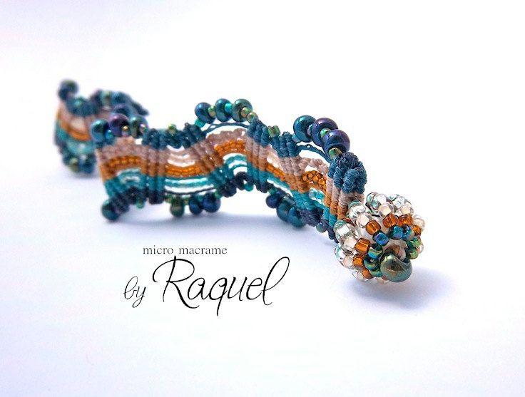 Missoni Inspired Micro Macrame Bracelet TUTORIAL