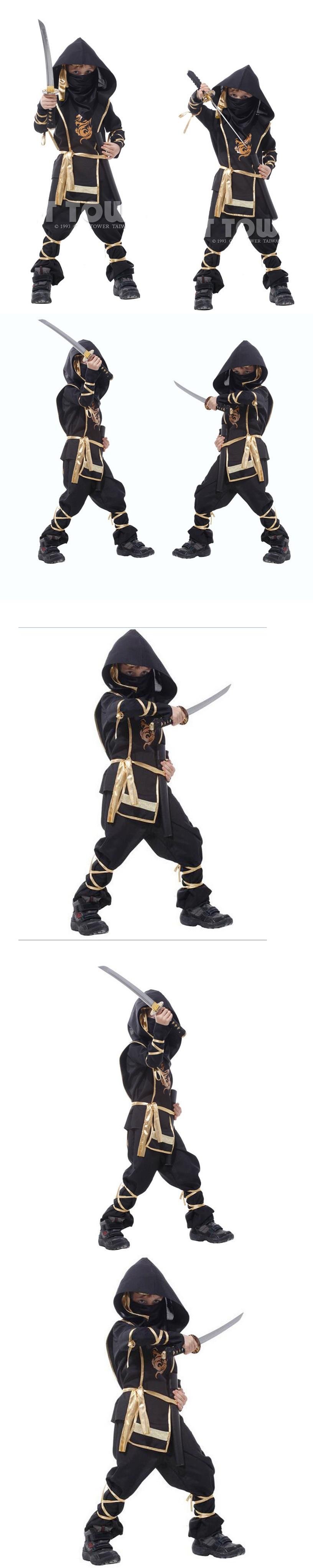 New Children Super Handsome Boy Kids Clothes Black Ninja Warrior ...