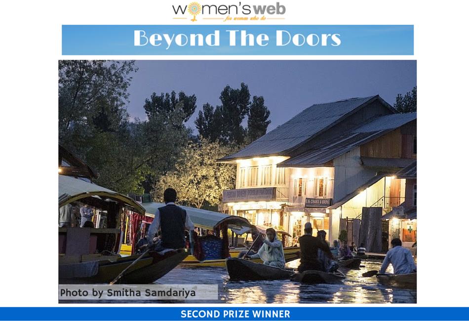 Winner'15 : Smitha Samdariya took this photo at the floating market - meena market on Dal lake in Kashmir. #BeyongTheDoors #Women'sWeb