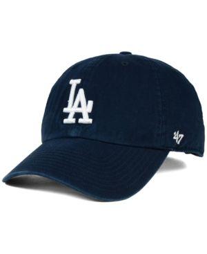 47 Brand Los Angeles Dodgers Core Clean Up Cap - Blue Adjustable ... 4a3fe80e169a