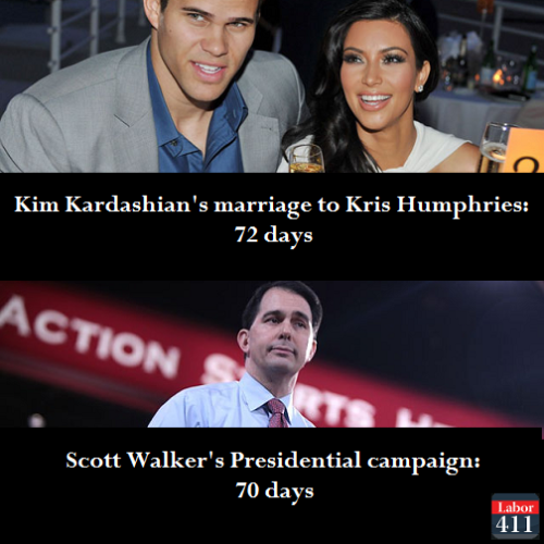 You know your campaign is bad when a Kardashian marriage lasts longer