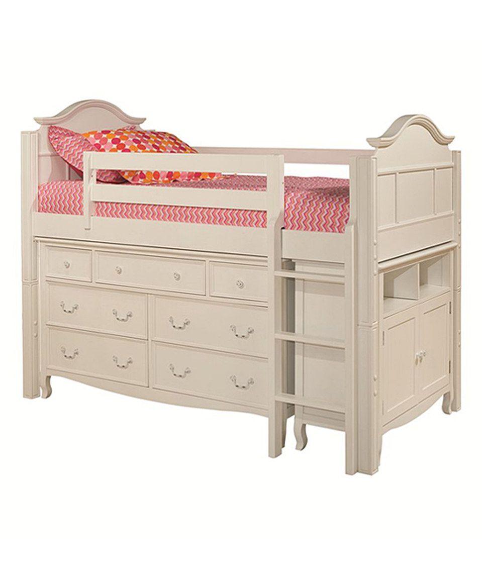 Look at this #zulilyfind! White Twin Low Loft Storage Bed, Dresser ...