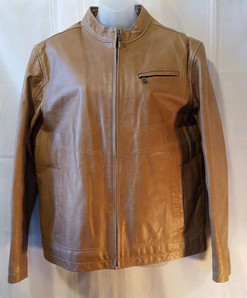 Liz Claiborne Lambskin Men S Leather Jacket Size Medium Lizclaiborne Basicjacket Men S Leather Jacket Basic Jackets Leather Jacket