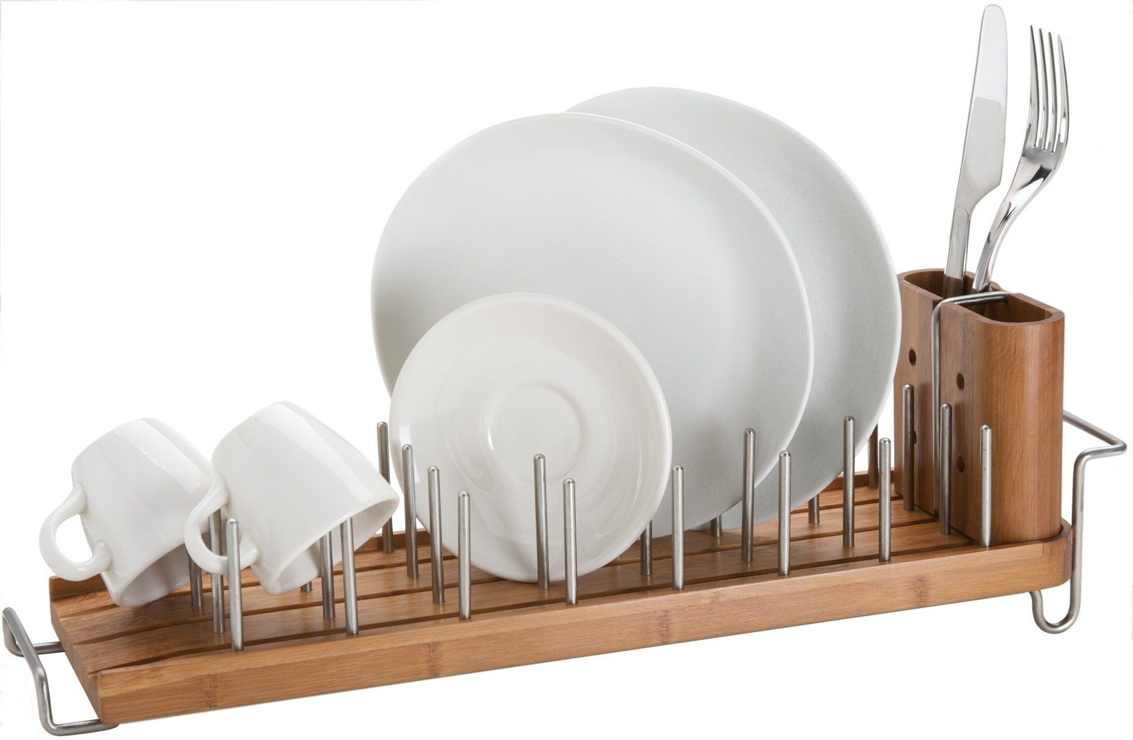 Better Housewares Drainforest Bamboo Dish Rack Drainer With