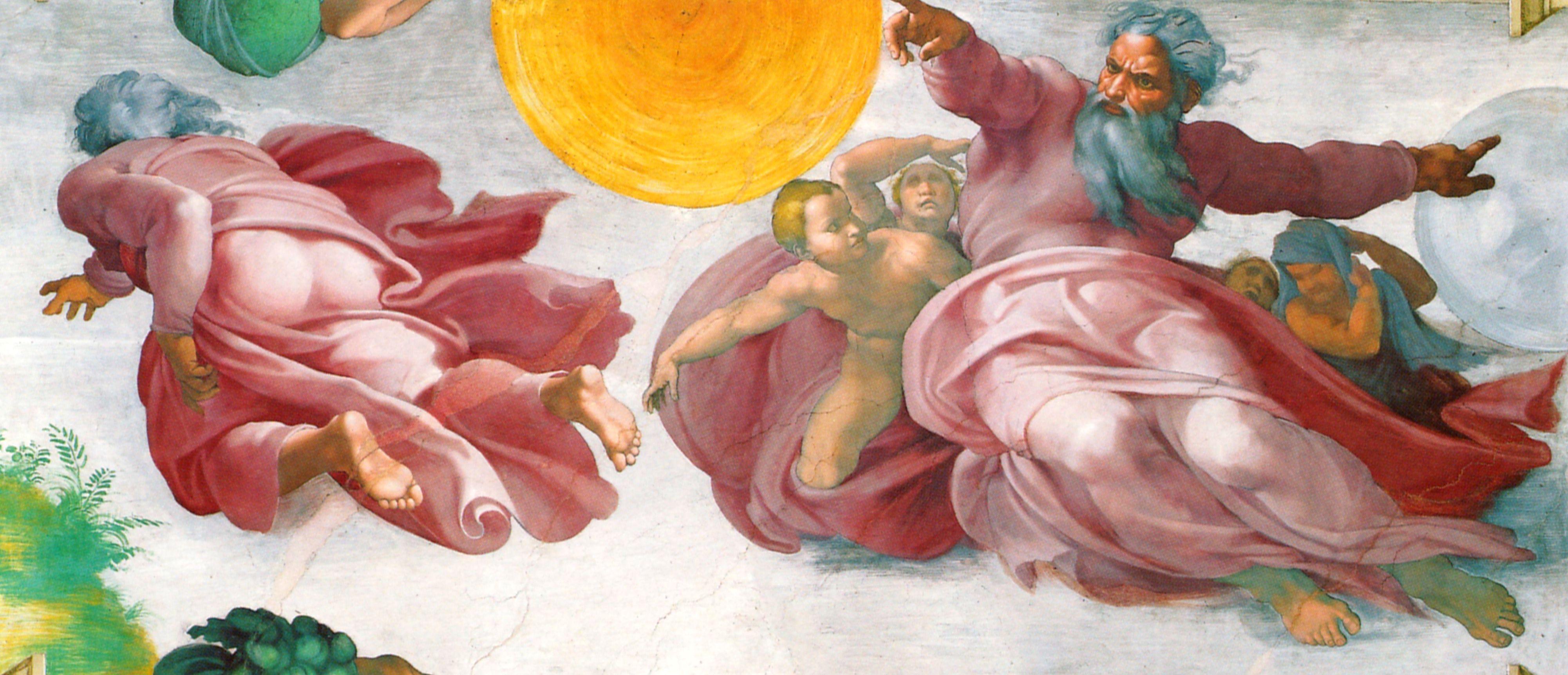 All sizes  Sixtinische Kapelle Michelangelo Erschaffung der