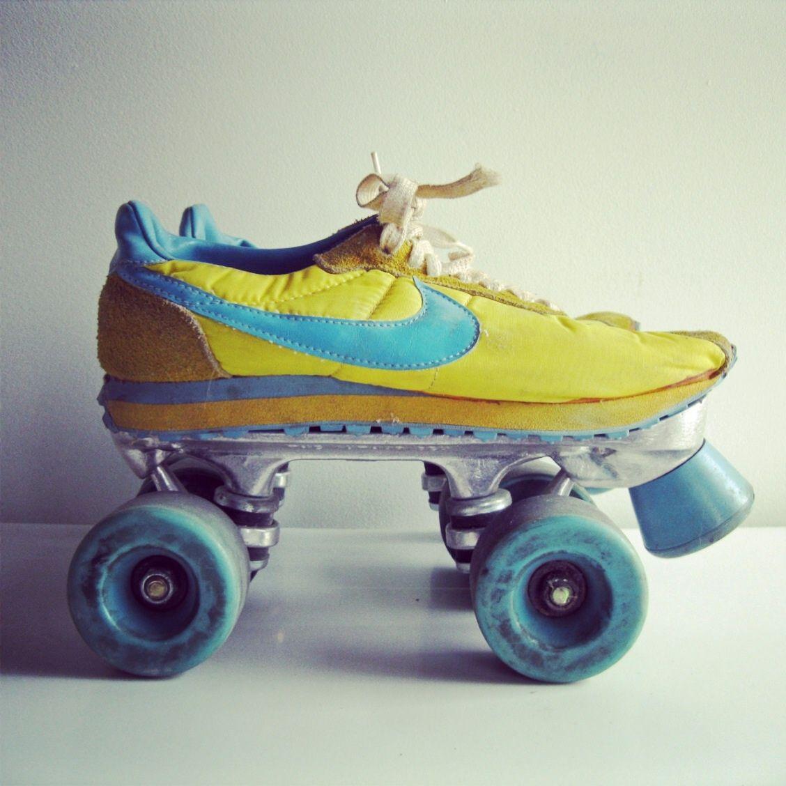Vintage Nike Roller Skates Retro Vibe Sneakers Nike Roller Skates Roller Disco