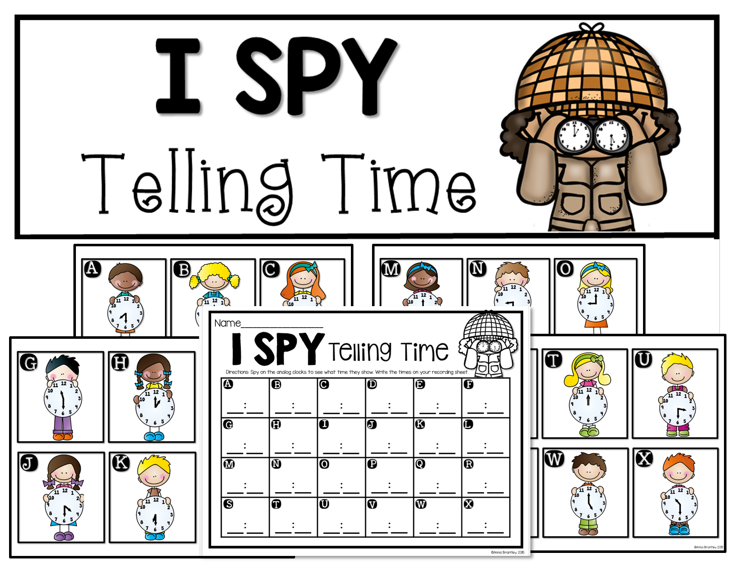 Activity I Spy Telling Time Free Download From Unit Let S Practice Telling Time From