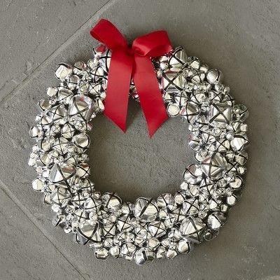 Silver Bells Decorations Williamssonoma Williams Sonoma Silver Jingle Bell Wreath  Jingle