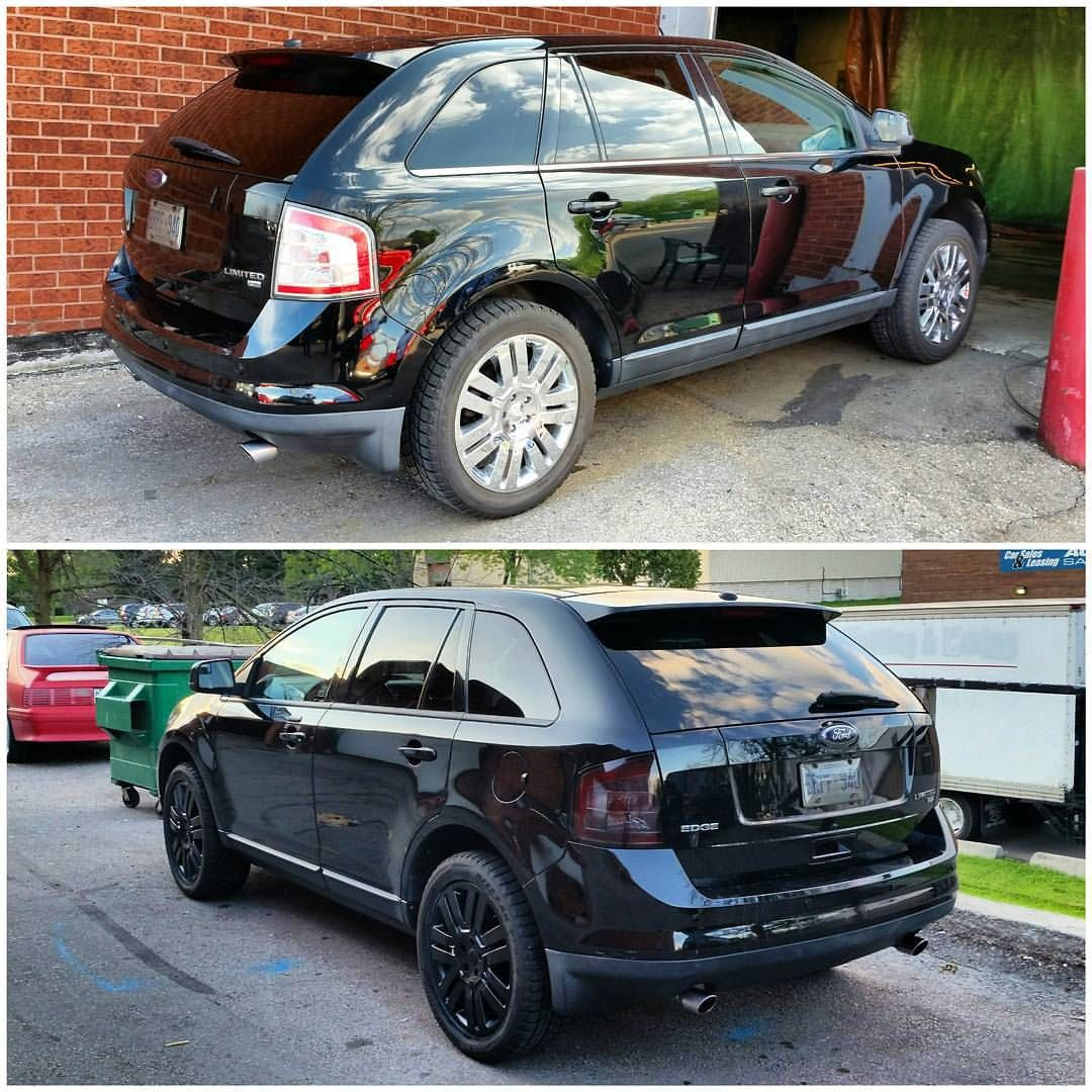Gloss Black Rims Chrome Delete And Lights Tinted For Ford Edge