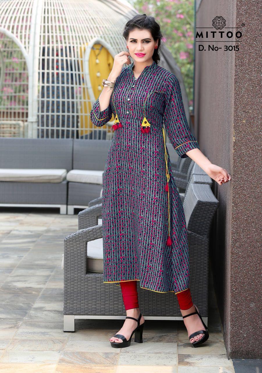 3b4628de3f Mittoo Preet Vol 2 Kurti Wholesale Catalog 8 Pcs in 2019 | Dresses ...