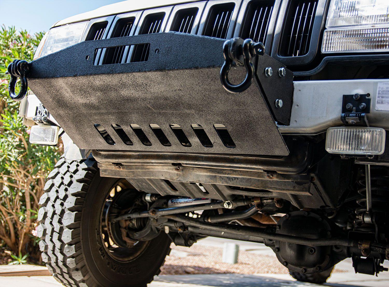 93 98 Zj Stubby Front Winch Bumper Diy Off Road Winch Bumpers Black Rhino Wheels Jeep Grand Cherokee Zj