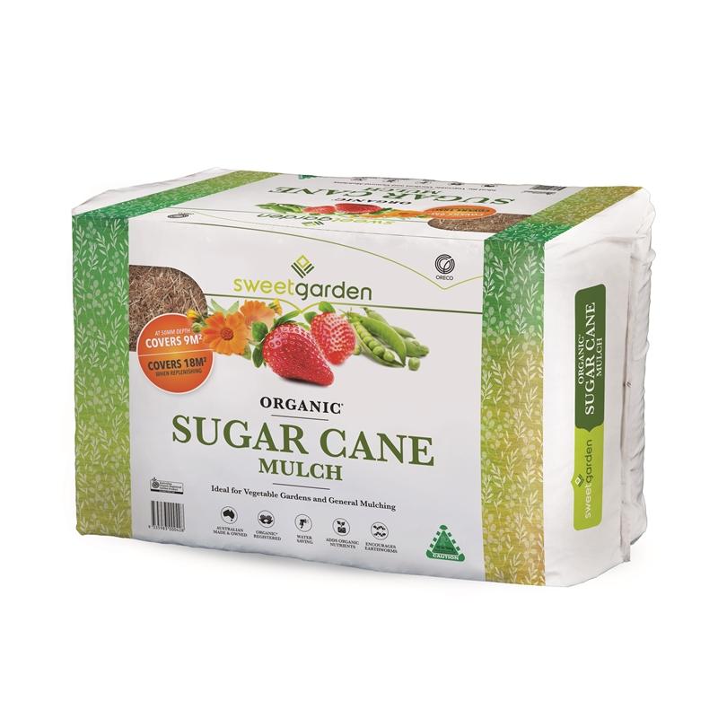 Sweet Garden 18m² Organic Sugar Cane Mulch Organic sugar