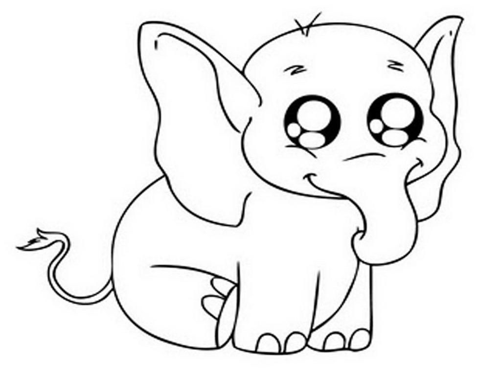 Baby Elephant Coloring Pages Ba Elephant Coloring Pages And For Kids Free Printable Coloring Albanysinsanity Com Elephant Coloring Page Animal Drawings Baby Elephant Cartoon
