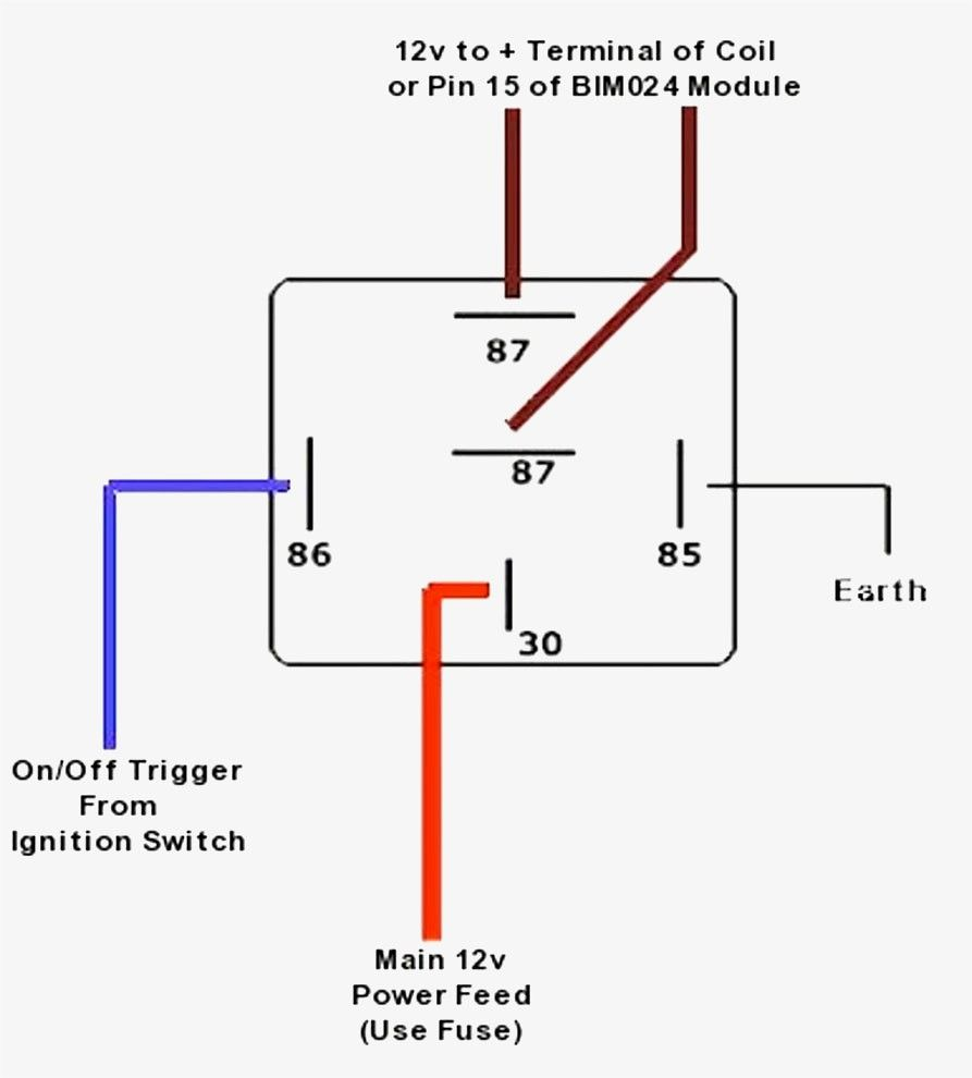 best wiring diagram for a 5 pin relay simple tearing schemat rh pinterest  com motorcycle headlight relay wiring diagram