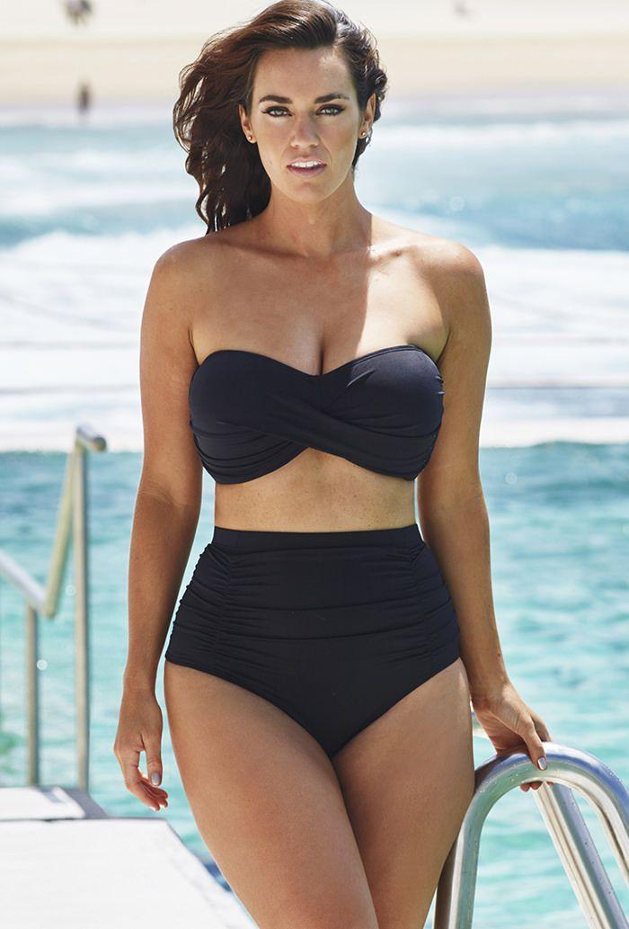 69a455d1d472f Valentine Black Bandeau Bikini with Shirred Brief
