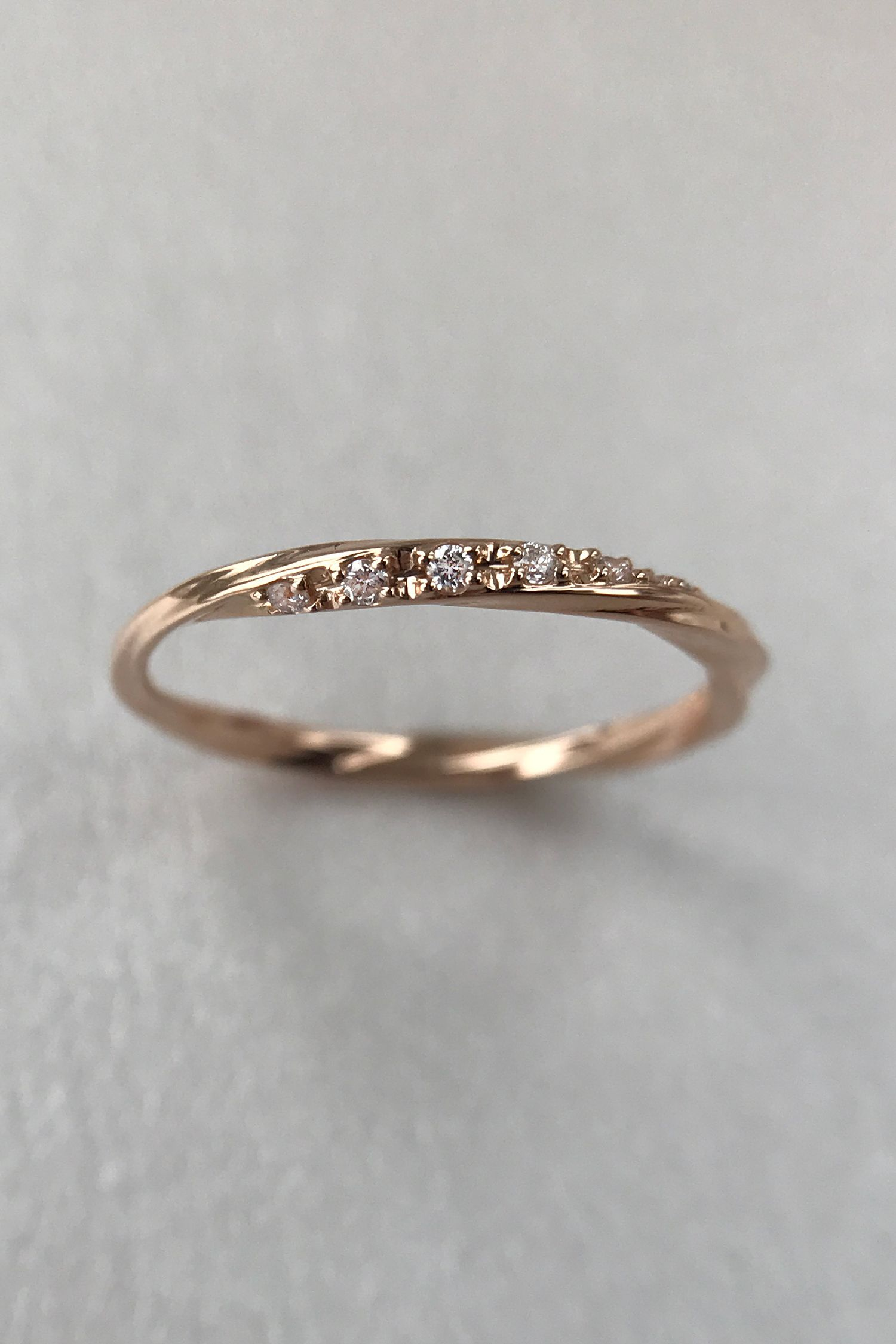 Wedding Band Women Unique Diamond Eternity Curved Wedding Band