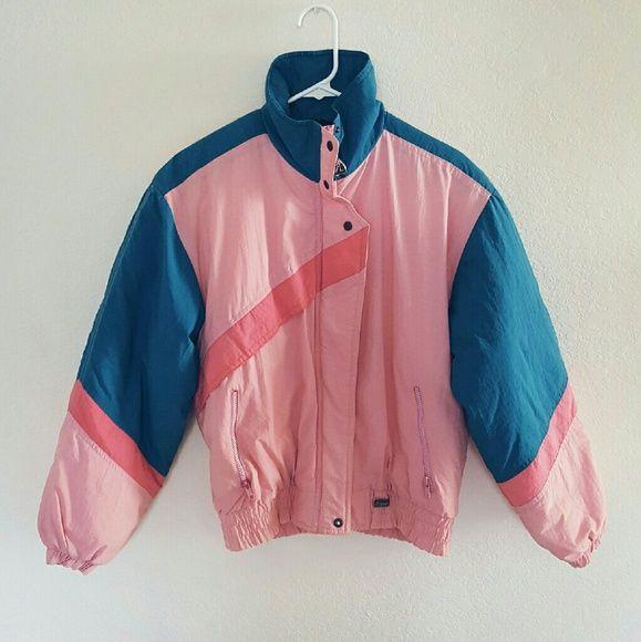 Puffer Jacket Pink Womans Winter Jacket Purple Winter Jacket Vintage Ski Jacket Medium Purple Jacket