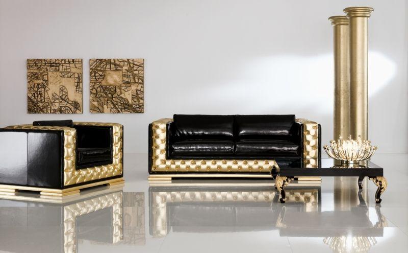Minimalistic Baroque In The Living Room Interior
