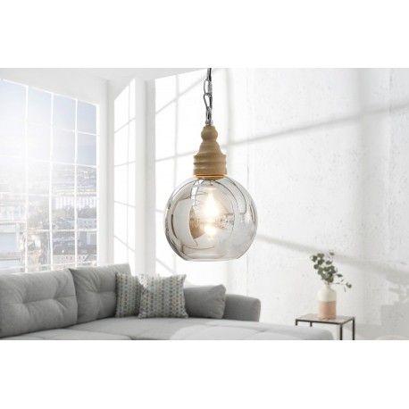Moderne et élégante lampe suspendue con§ue en verre transparent et