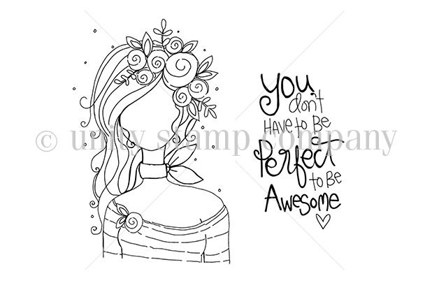 Planner Gal Don T Be Perfect Unity Stamps Bible Verse Coloring Page Unity Stamp Company