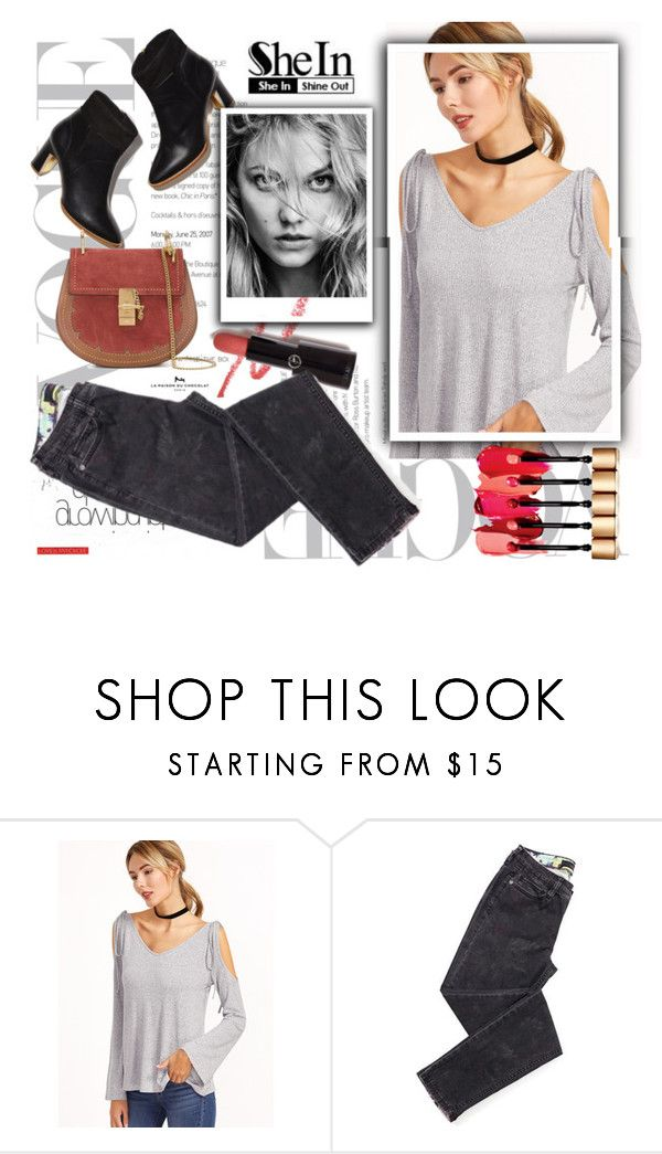 """""""SheIn T-Shirt"""" by sanya-marc ❤ liked on Polyvore featuring Armani Privé and Chloé"""