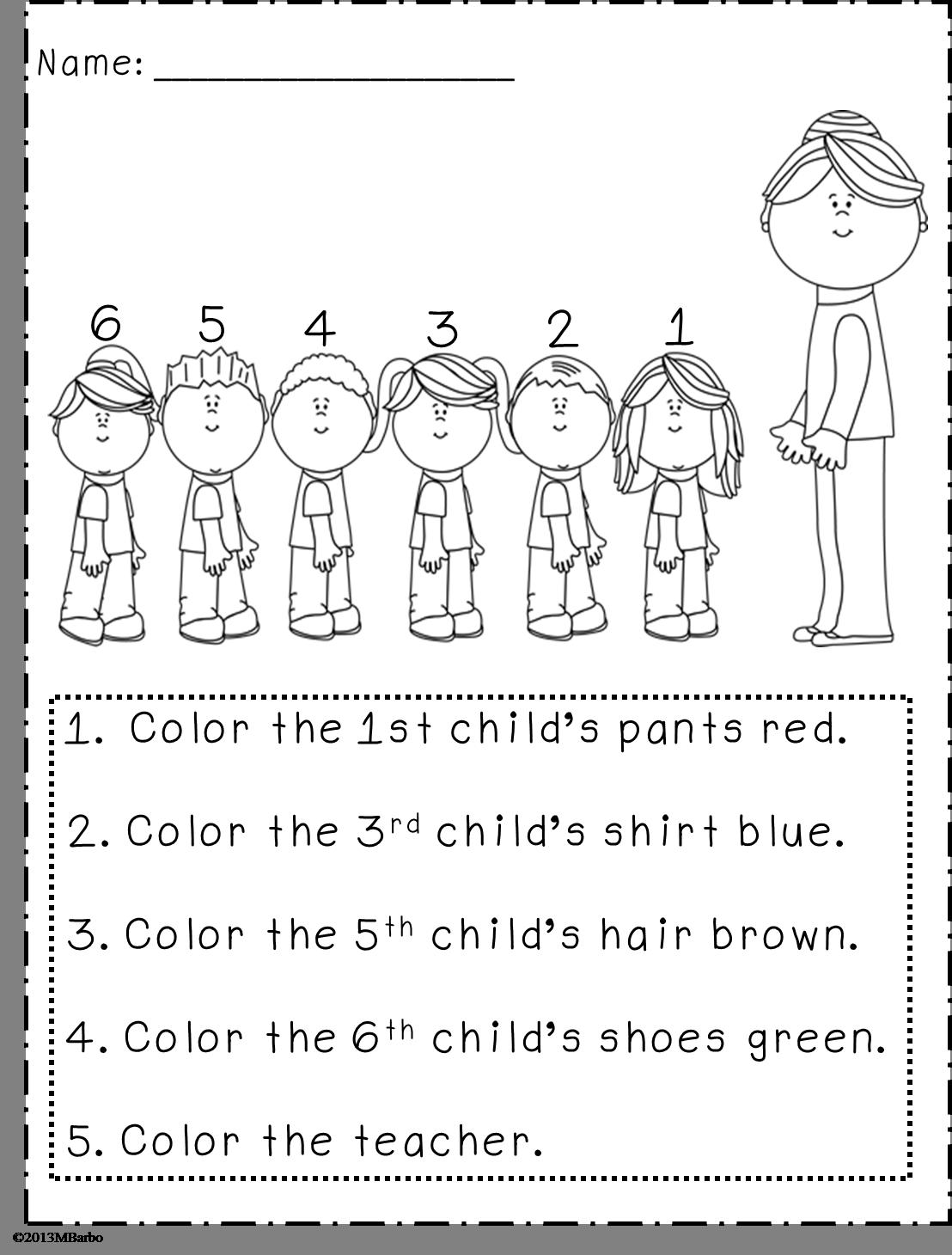 hight resolution of Back to School Work to Do - First Grade Blackline Masters!   Preschool  math