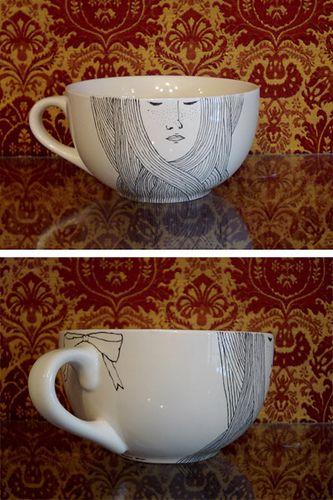 hand drawn cup #2 by irana, via Flickr