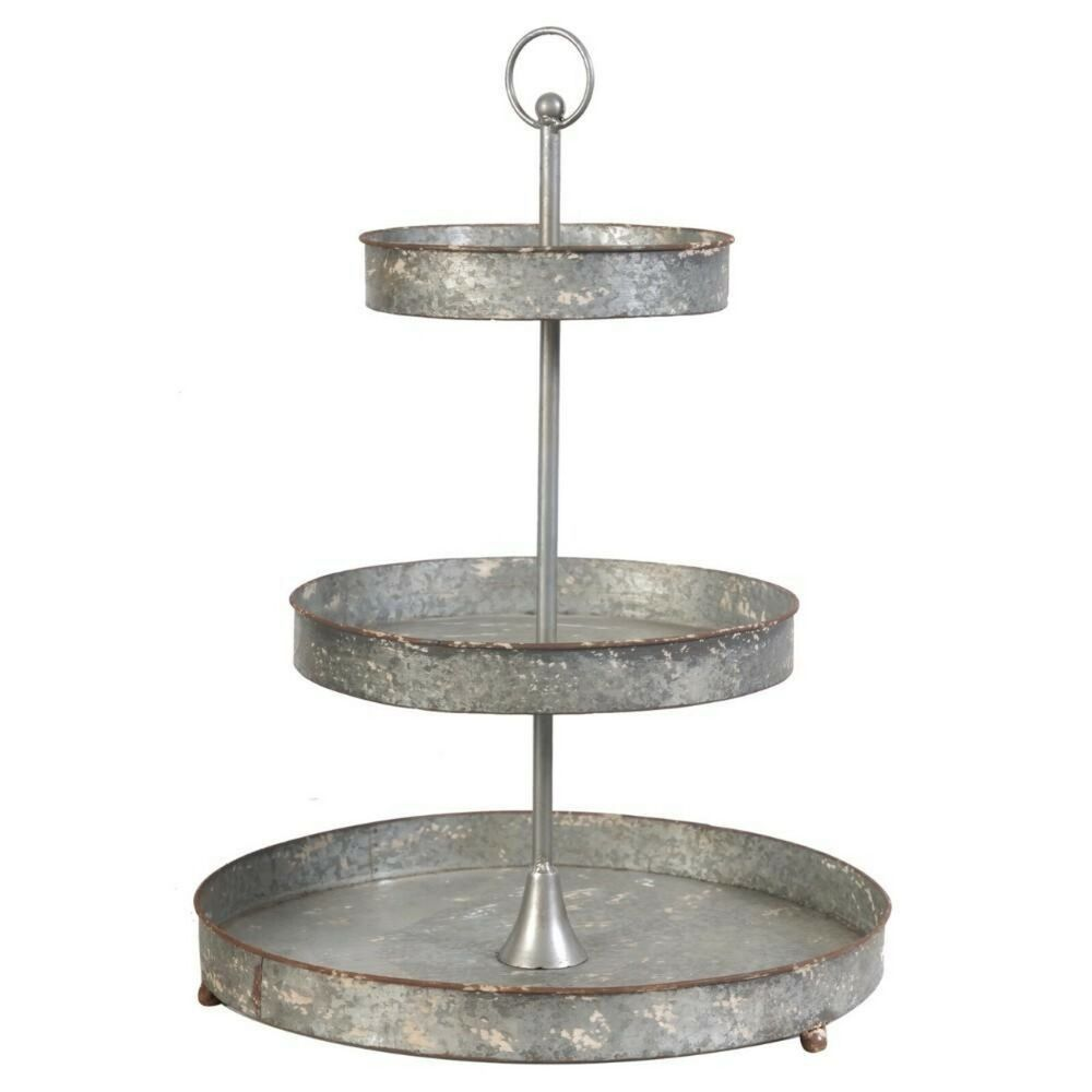 Farmhouse 3 tier stand serving tray centerpiece distressed