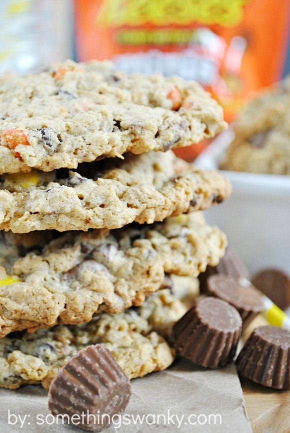 #Reeses Monster Cookies   www.somethingswanky.com