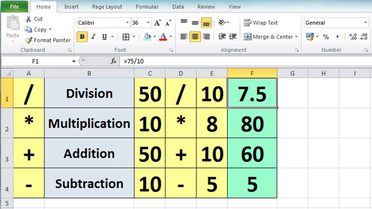 Excel 2010 tutorial for beginners 3 calculation basics excel 2010 tutorial for beginners 3 calculation basics formulas microsoft excel baditri Gallery