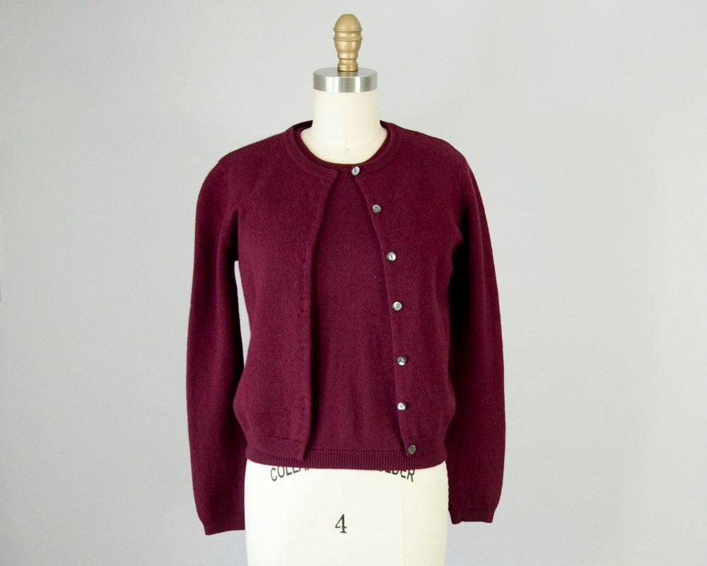 1990s Vintage J.Crew Wool Cardigan and Shell Set. 90s Cropped ...