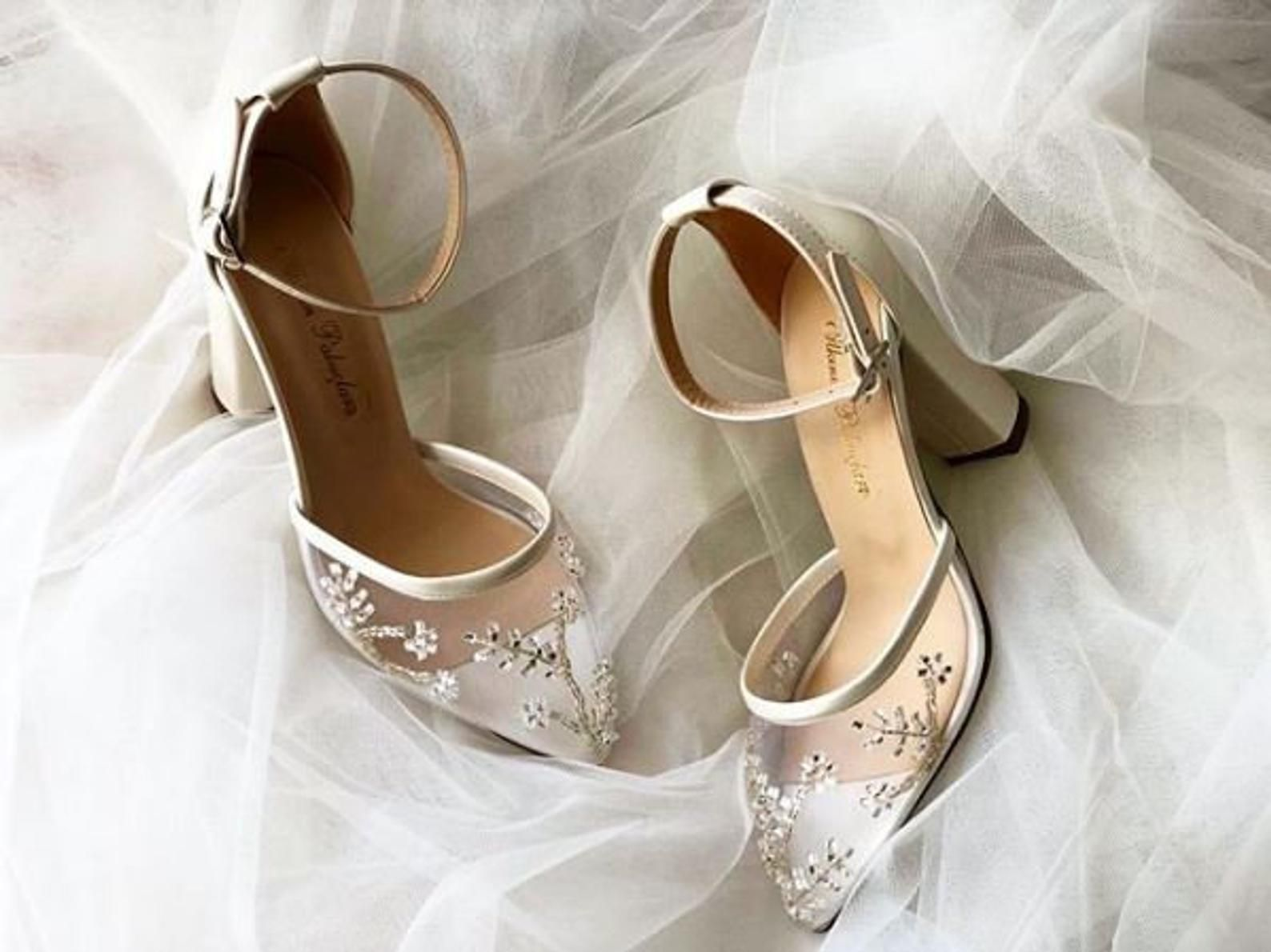 Tulle With Stone Embellishment Wedding Shoes Bridal Shoes Etsy In 2021 Wedding Shoes Lace Wedding Shoes Heels Bride Heels