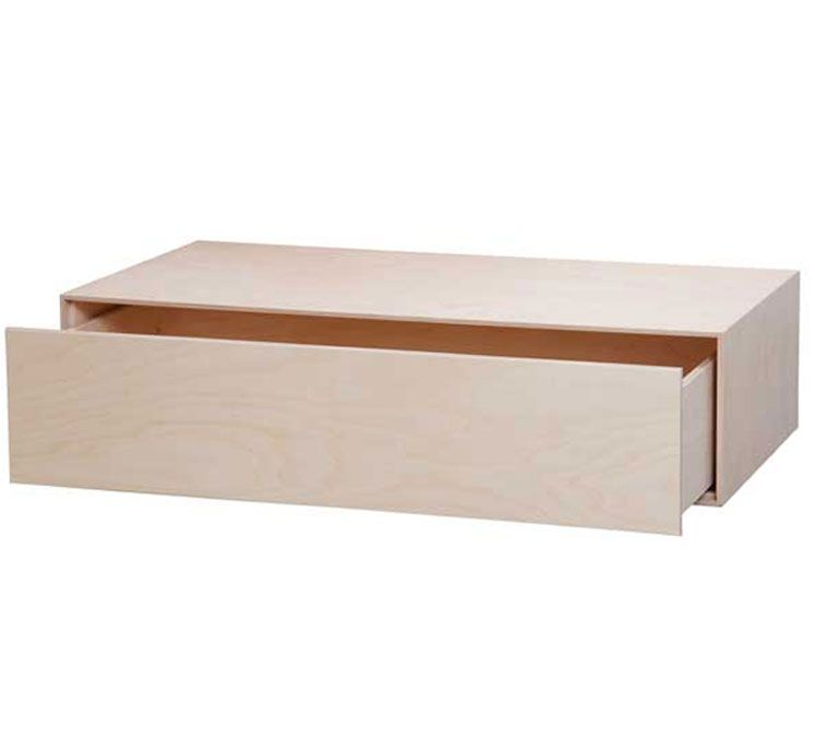 Opbevaring til under sengen - Brick box skuffesektion 90x22,5x45 cm