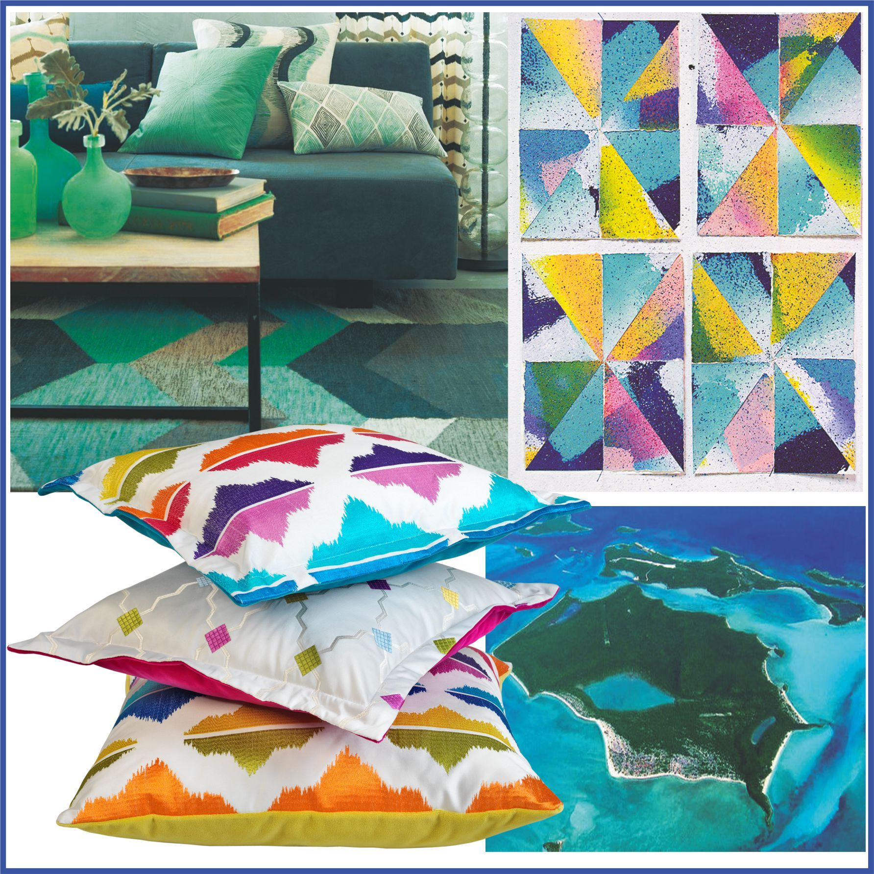 #Caribbean #Islands Fabric By #Aldeco #Mood #Board #Tropical #Vibes