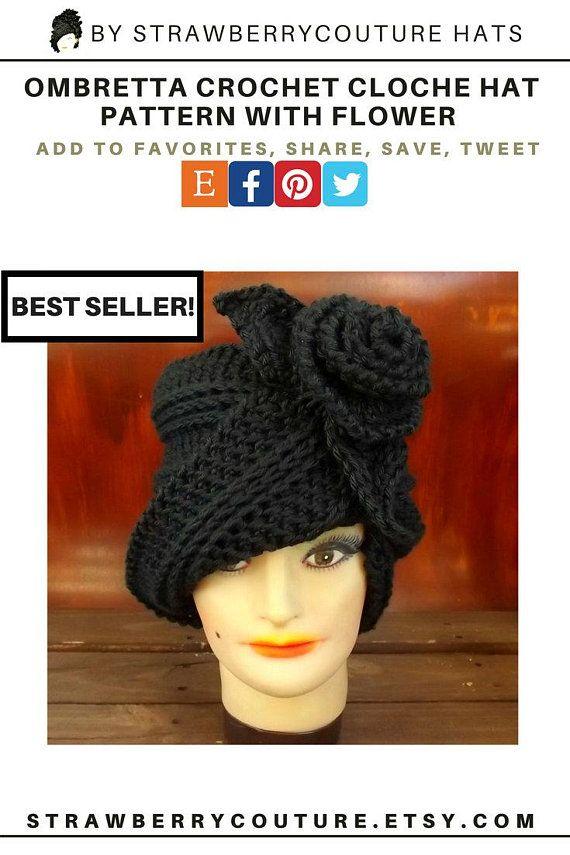 Crochet Cloche Hat Pattern With Flower Cloche Crochet Pattern Hat