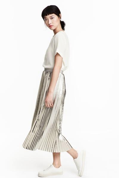 886a70404 Falda plisada: Falda plisada en tejido vaporoso con estampado ...