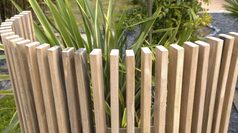 Claustra en bois   de terrasse   de jardin   sur mesure - KIT-KURLY