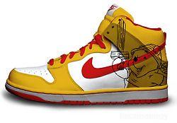 f878b65858e9 Nike Dunks Custom Design Sneakers   Nike SB Dunk Winnie The Pooh High Tops  Sneakers