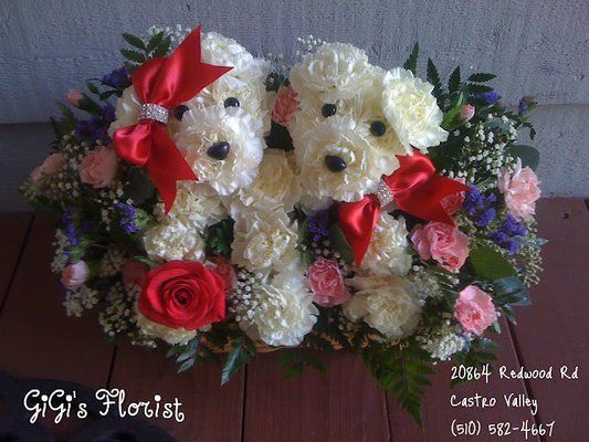 Dogs Made Out Of Flowers Photos For