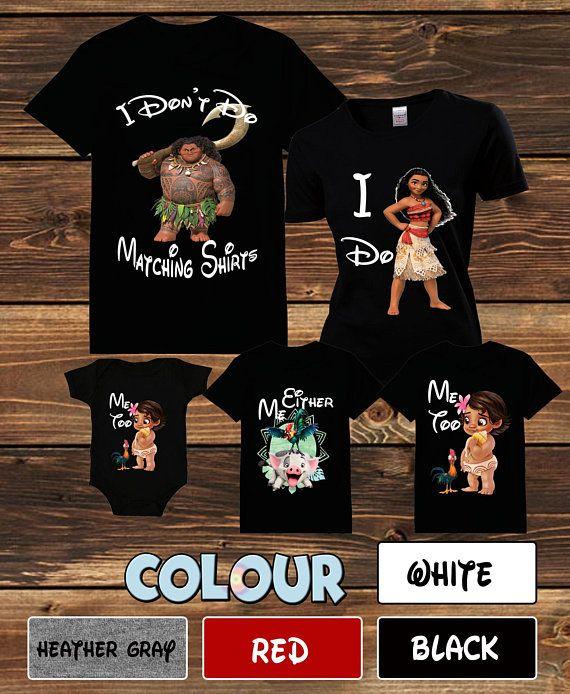 19f0c3f9 Moana I Don't Do Matching Shirt Moana and Maui Tshirt Disney Shirt Moana  Family Shirt