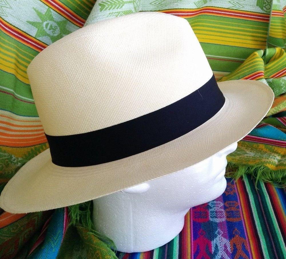 b1fd0bbb209 Original Panama Hat - 100% Handmade in Ecuador - Unisex - Size 58 Fedora  Classic  Handmade  FedoraTrilby