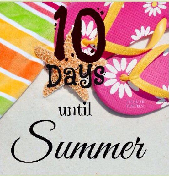 Image result for 10 days until summer