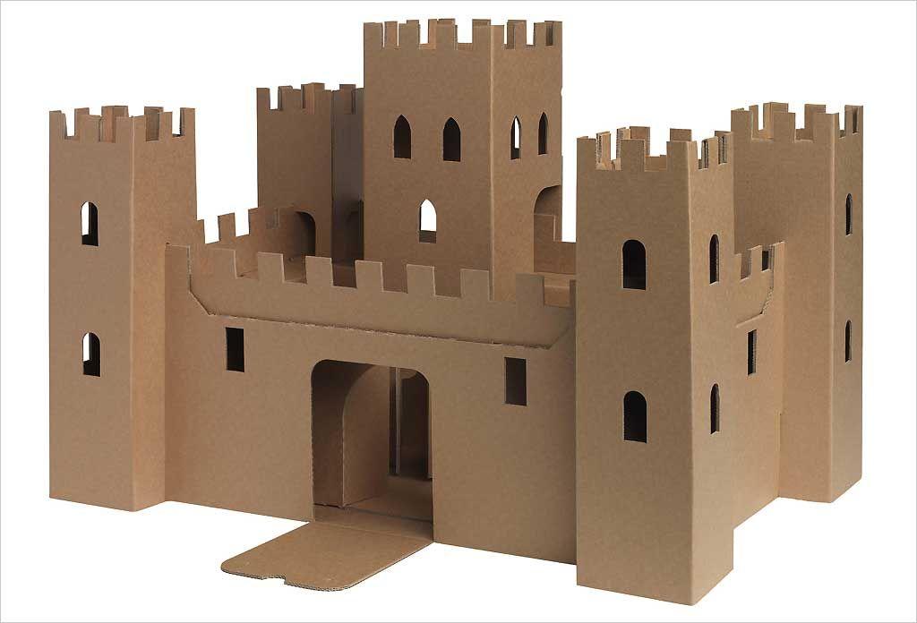 Ch teau fort jouet en carton recycl jeux et jouets ch teau en carton ch teau - Fabrication maison en carton ...