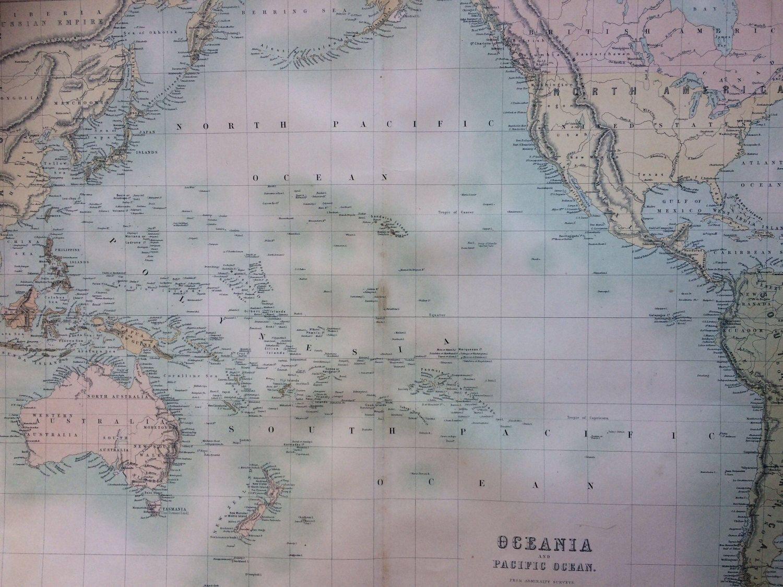 1859 AUSTRALIA extra large rare original antique